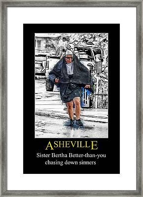 Asheville Nuns Poster Framed Print by John Haldane