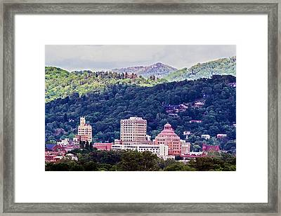 Asheville Painted Framed Print by John Haldane
