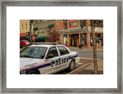 Asheville Pd Car 54 Framed Print by Greg and Chrystal Mimbs