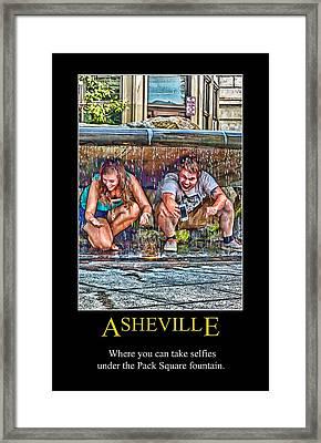 Asheville Selfies Poster Framed Print by John Haldane