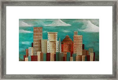 Asheville Skyline Framed Print