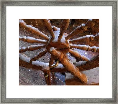 Ashford Wheel Watercolor Framed Print