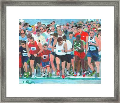 Ashland Half Marathon Framed Print by Cliff Wilson