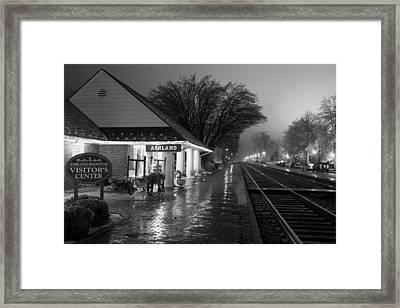 Ashland Train Depot Framed Print by Cliff Middlebrook