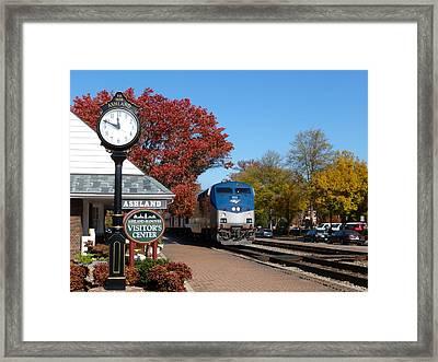 Ashland Train Depot Framed Print