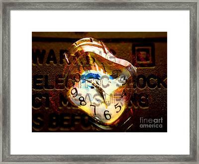 Ashok Clock Framed Print