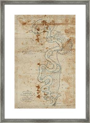 Ashport To Memphis Confederate Map Framed Print by Cody Cookston