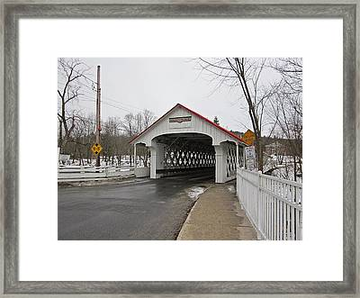 Ashuelot Bridge Framed Print