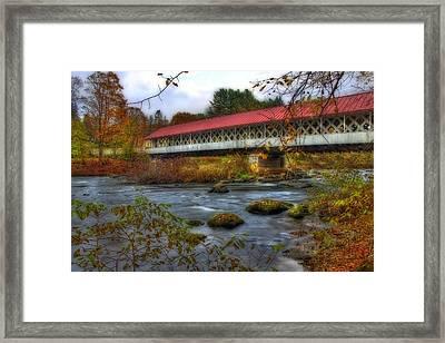Ashuelot Covered Bridge 2 Framed Print by Joann Vitali