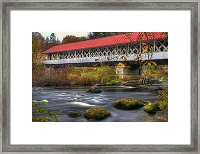 Ashuelot Covered Bridge 3 Framed Print by Joann Vitali