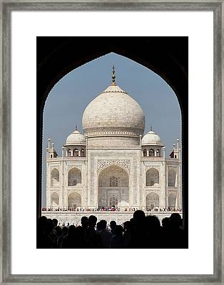 Asia, India Taj Mahal Entry Gate Framed Print by Brent Bergherm