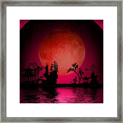 Framed Print featuring the digital art Asia Landscape  by Bruce Rolff