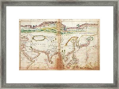 Asia Framed Print by Library Of Congress, Geography And Map Division