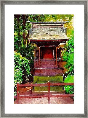 Asian Temple Framed Print by Daniel Precht