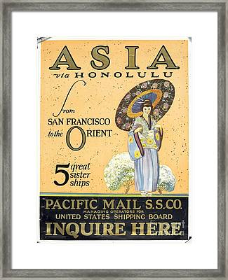 Asia Via Honolulu Framed Print