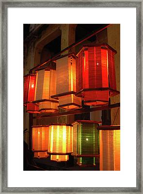Asia, Vietnam Fabric Lanterns, Hoi An Framed Print