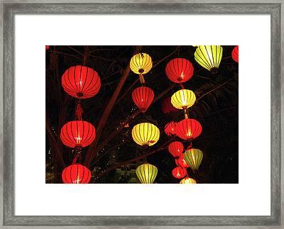 Asia, Vietnam Lanterns During Chinese Framed Print