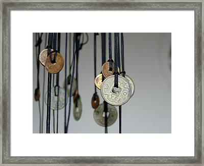 Asia, Vietnam Old Chinese Coins Framed Print