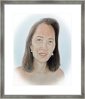 Asian Beauty Pusara Framed Print by Jim Fitzpatrick