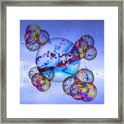 Asian Bubbles In Rain Framed Print by Anthony Caruso