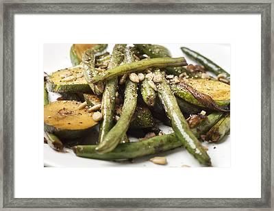 Asian Cuisine Vegetable Stir Fry Framed Print by Donald  Erickson