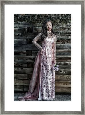 Asian Doll Framed Print