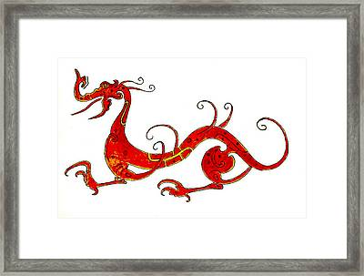 Asian Dragon Framed Print by Michael Vigliotti