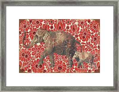 Asian Elephant-jp2185 Framed Print by Jean Plout