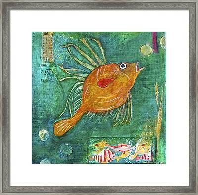 Asian Fish Framed Print