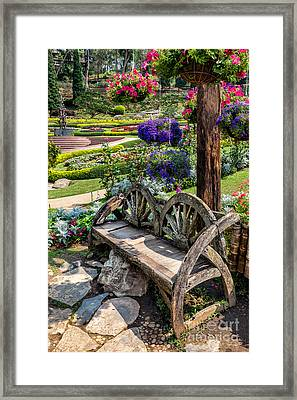 Asian Garden Framed Print by Adrian Evans
