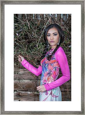 Asian Girl. Look. Framed Print