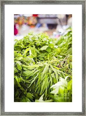 Asian Market Vegetable Framed Print by Tuimages