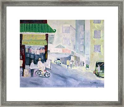 Asian Street Traffic Framed Print