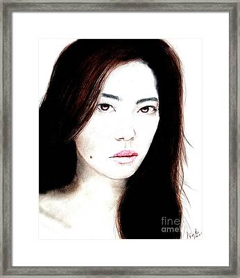 Asian Model II Framed Print by Jim Fitzpatrick