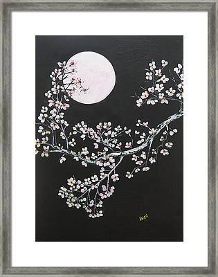 Asian Moon Framed Print