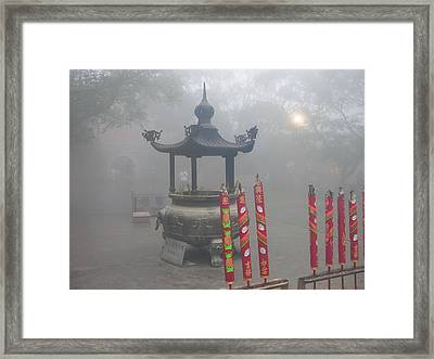 Framed Print featuring the photograph Asian Mornining In Lantau China by Jacqueline M Lewis