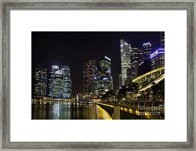 Asian Neons Framed Print by Pete Reynolds