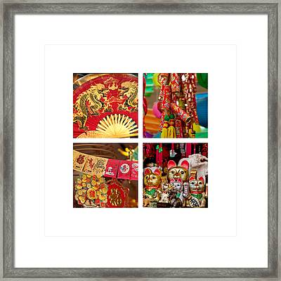 Asian Style Trinkets Framed Print by Art Block Collections