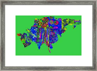 Asian Textiles Framed Print by Larry Bishop