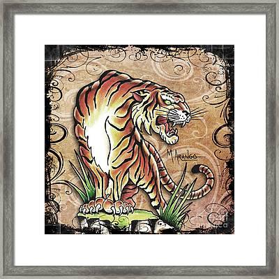 Asian Tiger Framed Print by Maria Arango