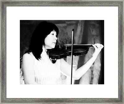 Asian Woman Playing The Violin Framed Print by David Zoppi
