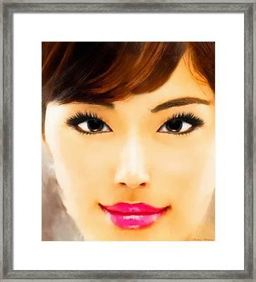 Asian Woman Framed Print
