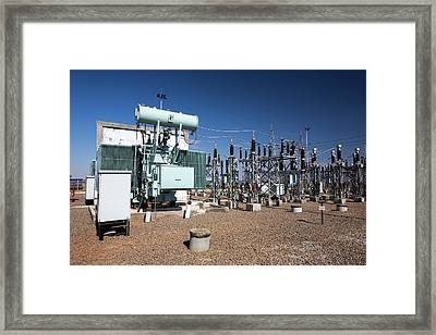 Asia's Largest Solar Power Station Framed Print by Ashley Cooper