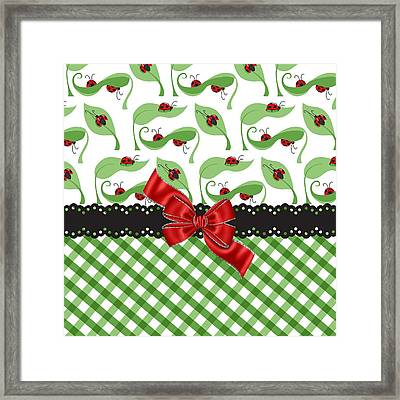 Asiatic Ladybugs  Framed Print by Debra  Miller