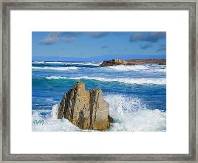 Asilomar Rollers - Asilomar State Beach Framed Print