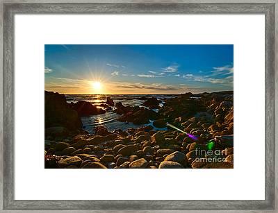 Asilomar Sunset - Monterey Bay Framed Print by Jamie Pham