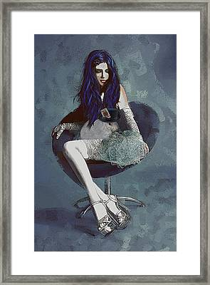 Ask Alice Framed Print