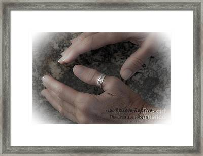 Ask Believe Receive Framed Print by Bob Hislop