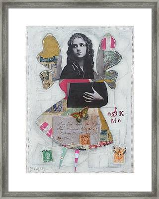 Ask Me Framed Print by Casey Rasmussen White