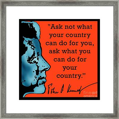 Ask Not What Your Country... Framed Print by Scarebaby Design